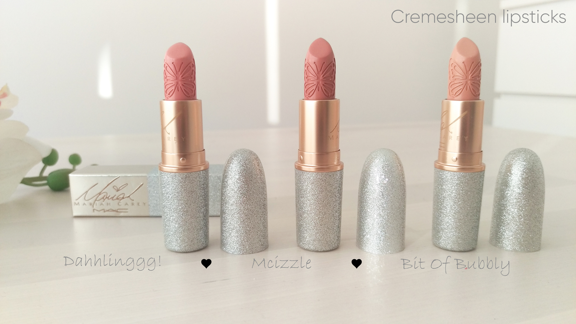 Mac Mariah Carey Collection Kollektion Lipstick Cremesheen Dahhlinggg! Mcizzle Bit Of Bubbly