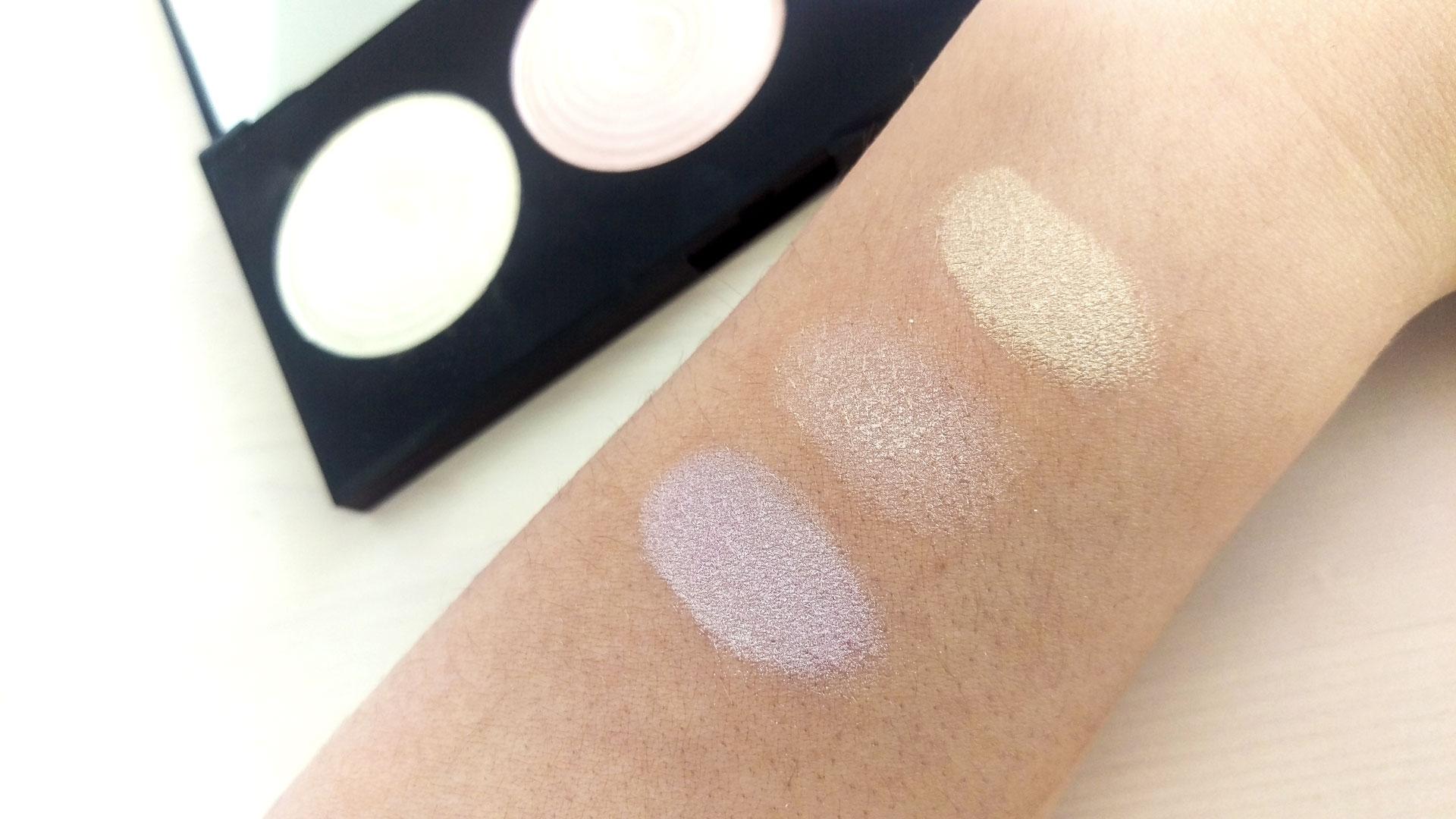 Makeup Revolution Highlighter Palette Swatches darieflavour