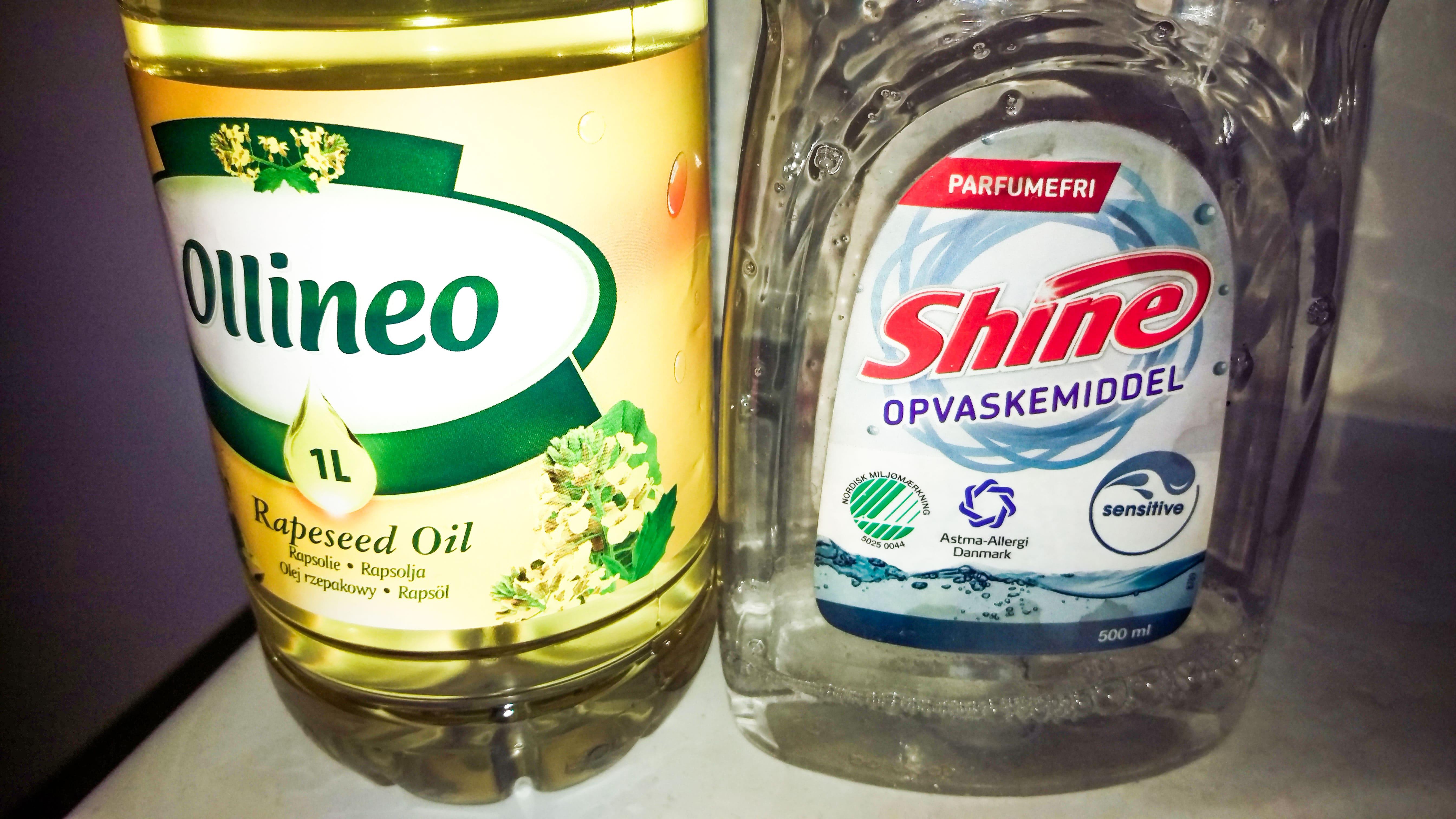 Rengøring af børste billede 3 sæbe og olie