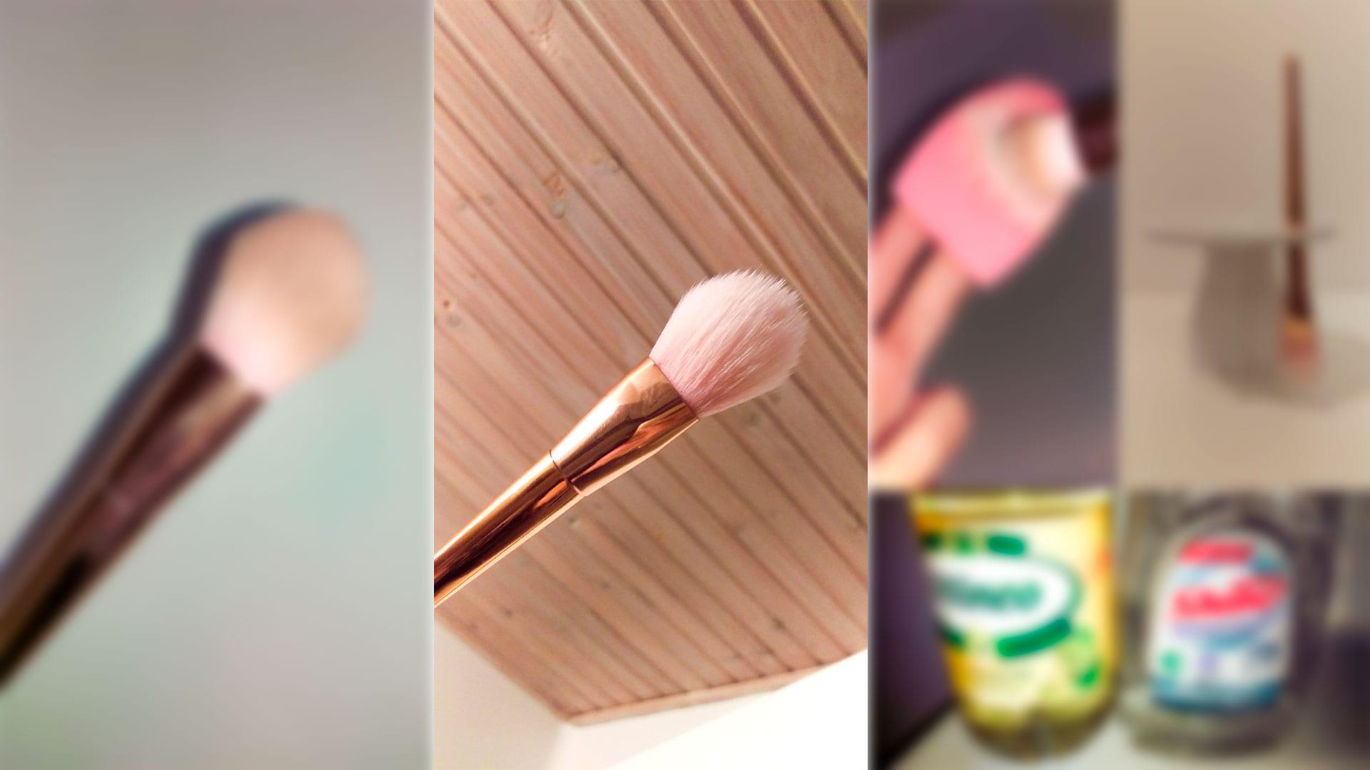 Rengøring af børster med madlavningsolie og opvaskemiddel darieflavour